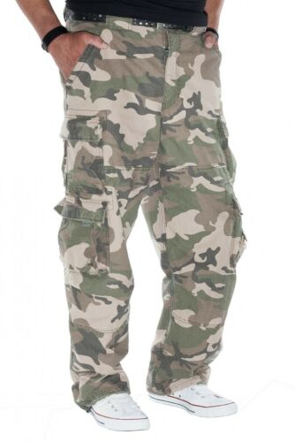 fällt lang aus JET LAG weite Cargohose Modell 007 in camouflage