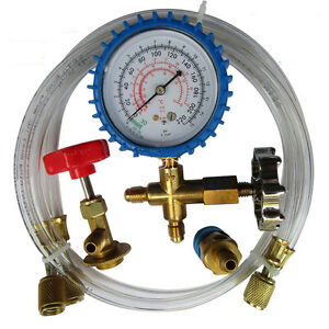 ac manifold gauge set how to use