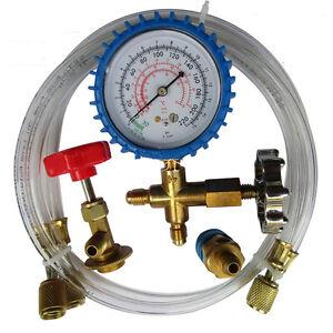 ac manifold gauge set how to use
