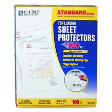 C Line Top Loading Standard Weight Poly Sheet Protectors Clear 85 X 11 Inche