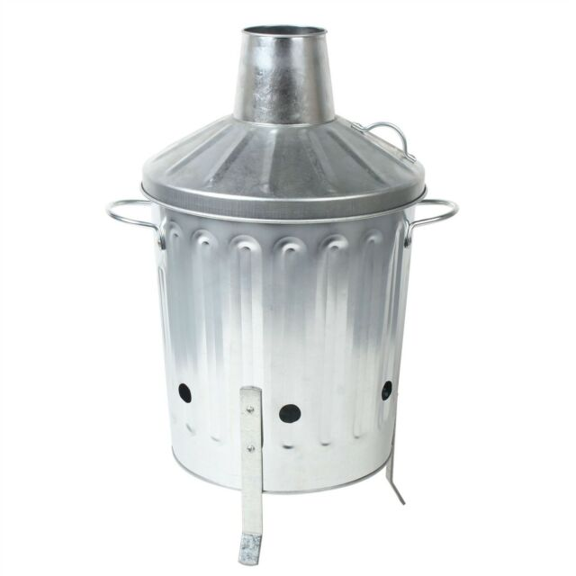 CrazyGadget® Mini Garden 15 Litre Galvanised Incinerator Bin