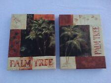 Fabrice de Villeneuve Giclee Palm Tree Prints - Pair w/ Certificates