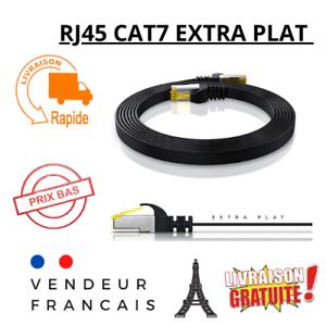 Câble RJ 45 Ethernet réseau câble plat cordon de raccordement 50cm