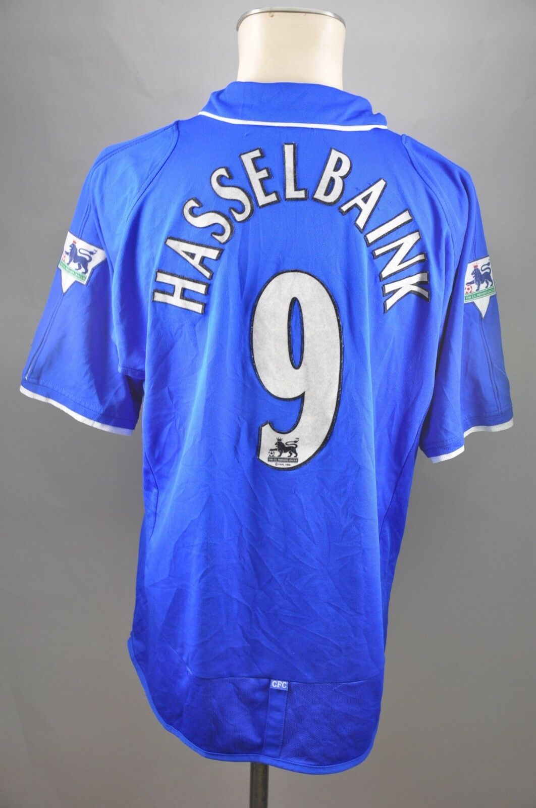 Chelsea London Trikot 2001-2002 Home Gr. L  9 Hasselbaink Jersey Home Umbro