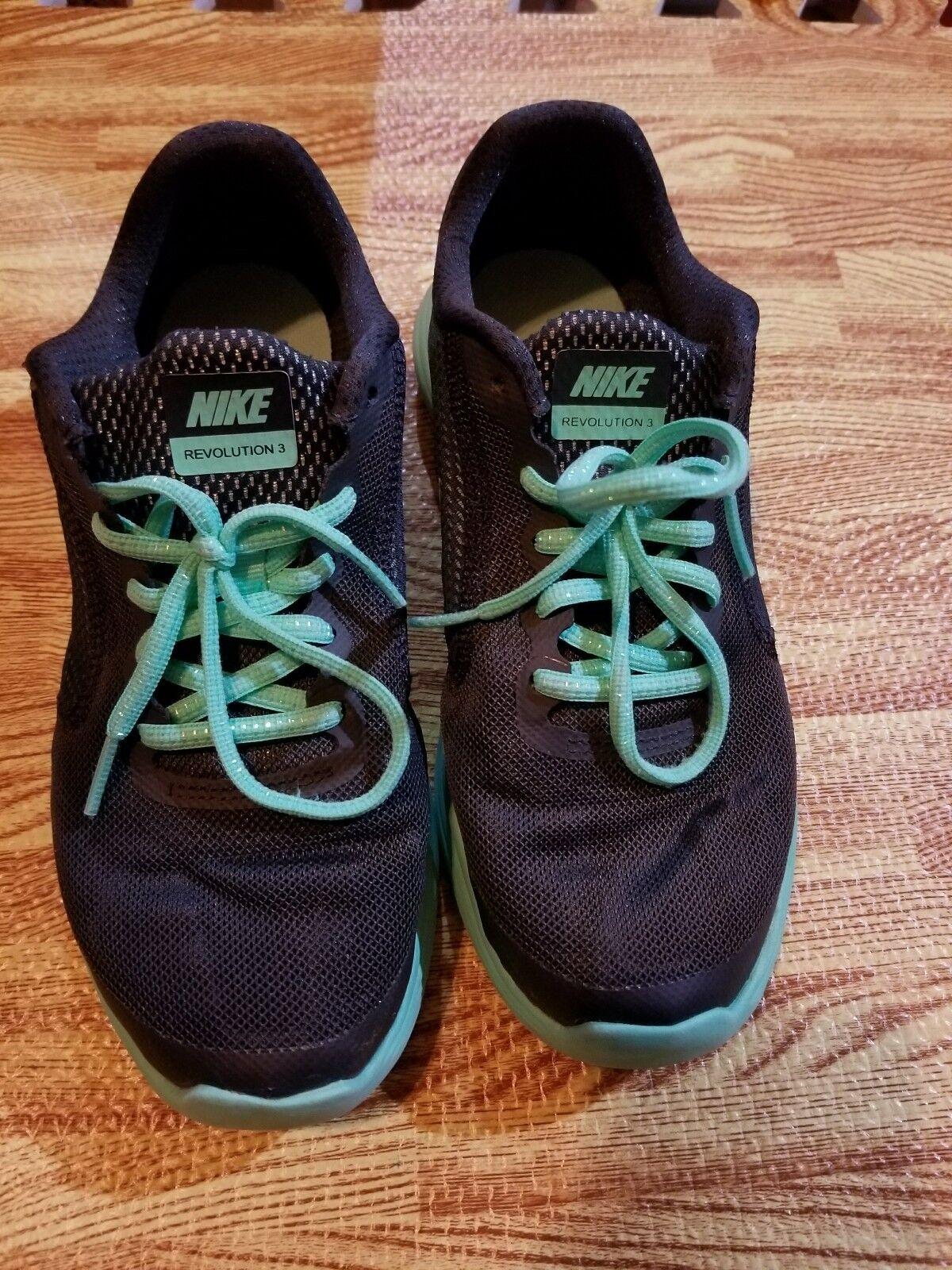 82728a4c0fc6 Nike Revolution Revolution Revolution 3 Running Shoe 819303-001 Dark Blue   Green Youth Size