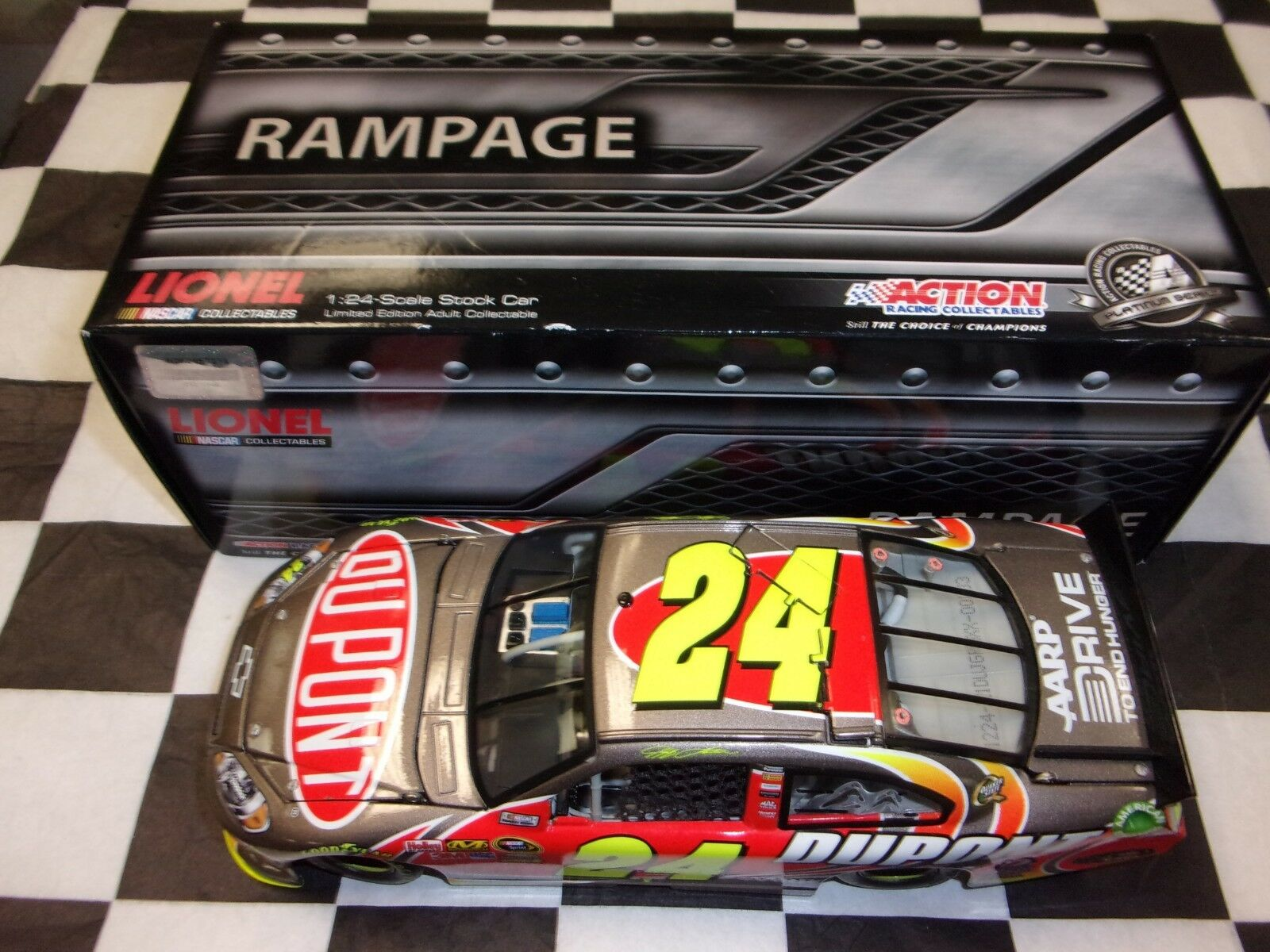 Jeff Gordon  24 DuPont 2012 Impala Action 1 24 Scale Car NASCAR RAMPAGE