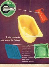 F- Publicité Advertising 1958 Plastiques Grosfillex