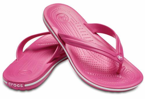 CROCS Crocband FLIP Beach Shoes  Crocband Pool //White Pink //White Black jk7td8ii