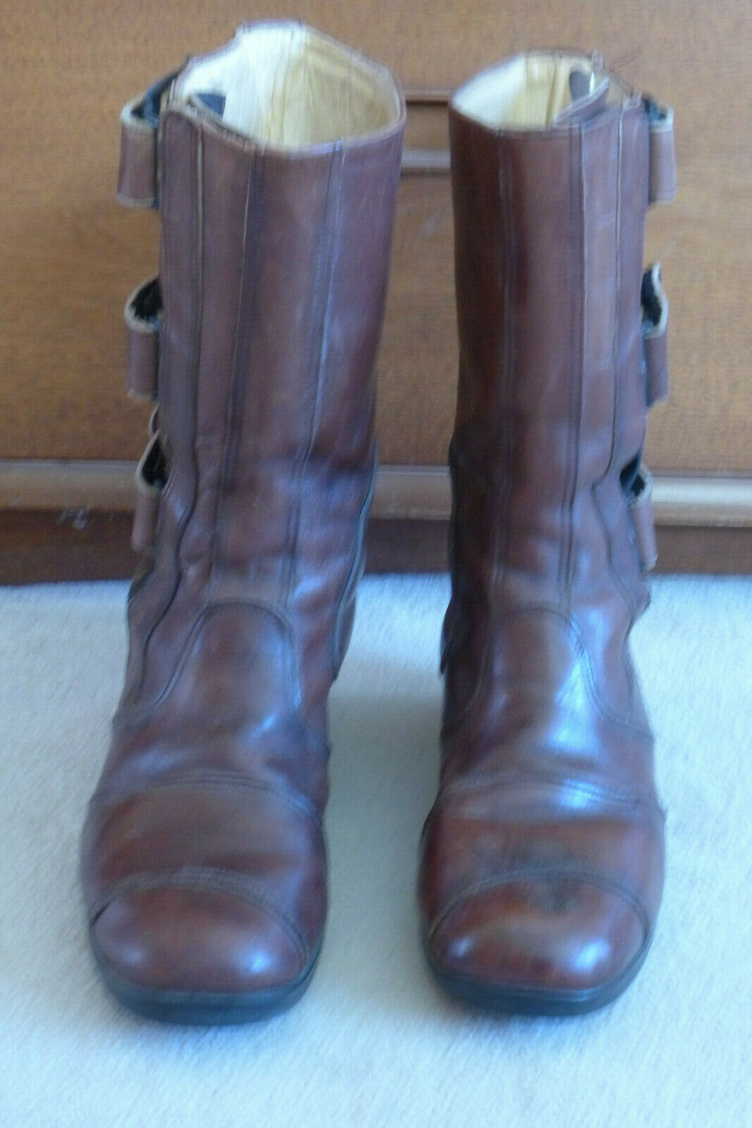 Beautiful vintage (1960's)  motorcycle boots, size 41, made in   honest service