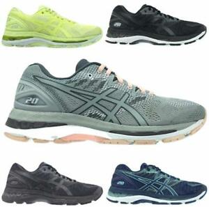 Women s Asics GEL-Nimbus 20 Running Athletic Shoes Black Blue Yellow ... 7676ec0d0815a