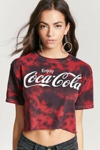 906103b4a4a8b Juniors Coke Enjoy Coca-Cola Crop Cut Top Tie Dye Shirt New S