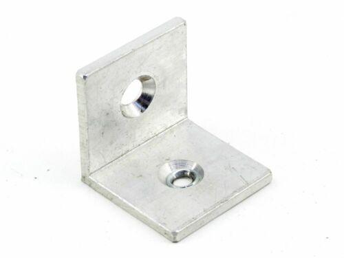 Aluminium 4mm Montage 2x Loch L-Winkel Metall Halterung Verbindung 40x40x40mm