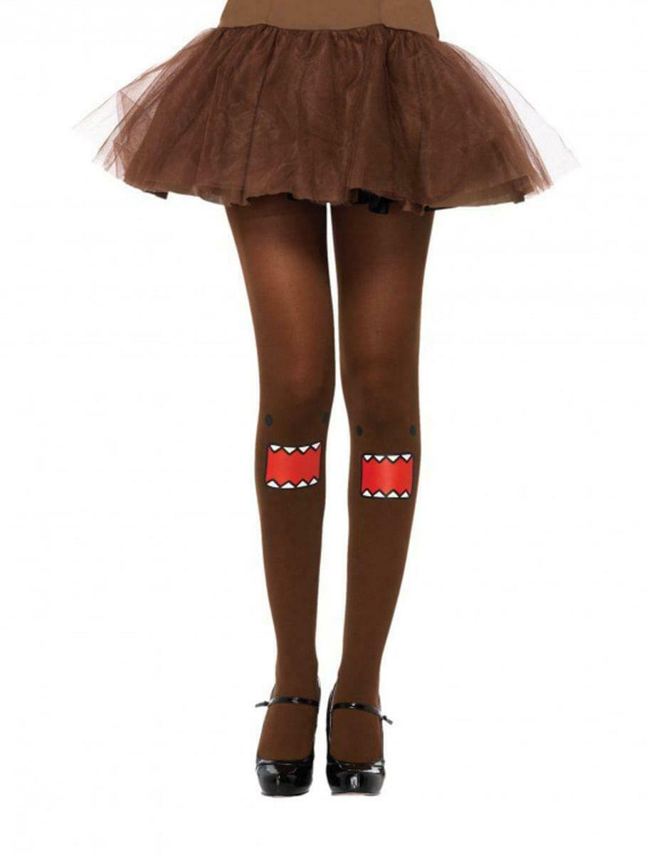 Domo Costume Brown Tights One Size