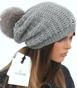 86a7c01e828 Image is loading NEW-MONCLER-GRAY-WOOL-CASHMERE-BLEND-LOGO-FOX-