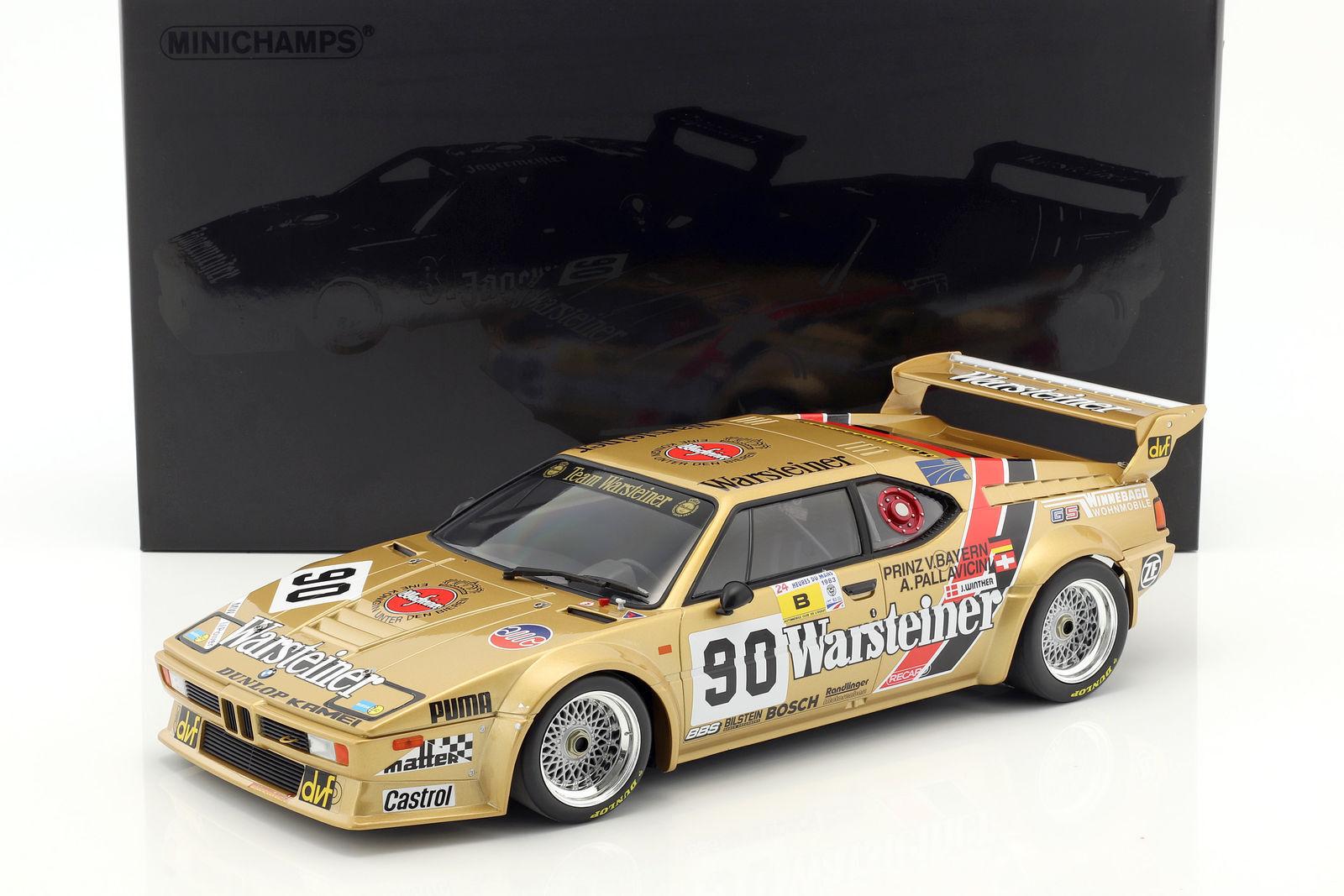Minichamps BMW M1 Grupo B  90 24 H Lemans 1983 1 12 Coche Grande   totalmente Nuevo