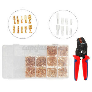 1000PCS-Electrician-Crimper-Tool-Kit-Cable-Wire-Cutter-Terminal-Plier-Crimping