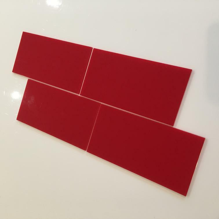 rot Gloss Acrylic Rectangle Crafting Mosaic Wall Tiles, 1cm-25cm, 1 -10