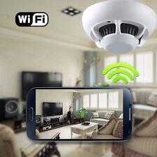 HD Cam Smoke Detector Security Pinhole Spy Wifi Camera Video Recorder IP P2P DVR