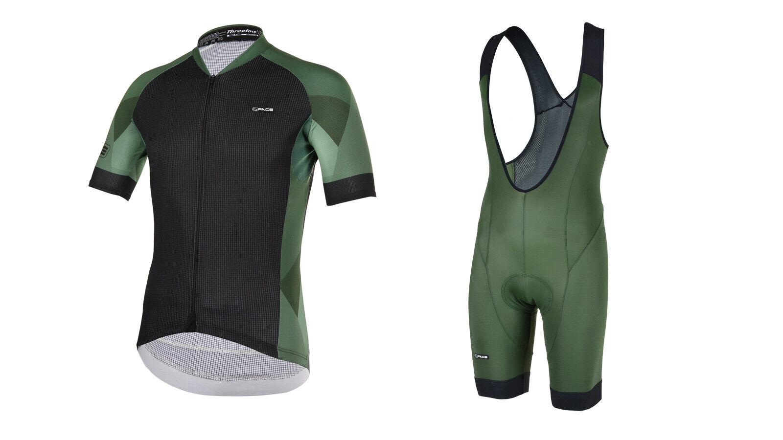 Completo estivo ciclismo mtb bici abbigliamento maglia + salopette made in