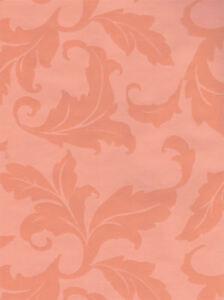 Scroll-Leaves-Damask-in-Salmon-Wallpaper-EC1157