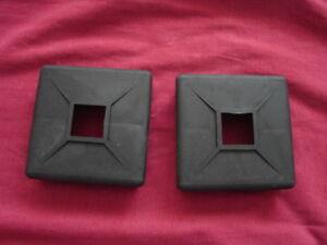 2 Pack Of 4 Quot Square Rubber Bumper Plug End Cap Cover Rv