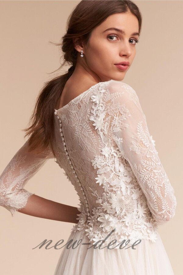 Flower Lace Applique Jacket Wraps Bridal Wedding White Ivory Bolero Custom