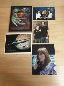 DernièRe Collection De Serenity Jeu De Rôle Jeu Livre Avec Signatures De La Coulée! Battlestar Galactica-afficher Le Titre D'origine Emballage De Marque NomméE
