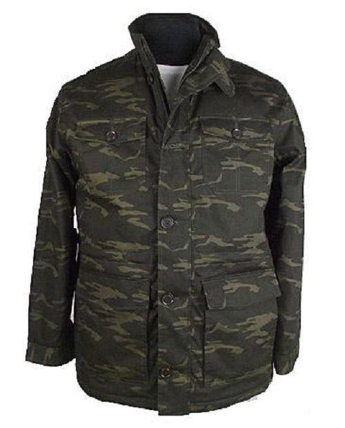 ESPIONAGE Herren Militär Stil Tarnung Mantel Größen 2XL bis 8XL