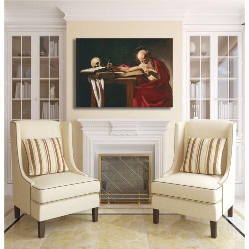 Caravaggio san Gerolamo scrivente quadro stampa tela dipinto telaio arredo casa