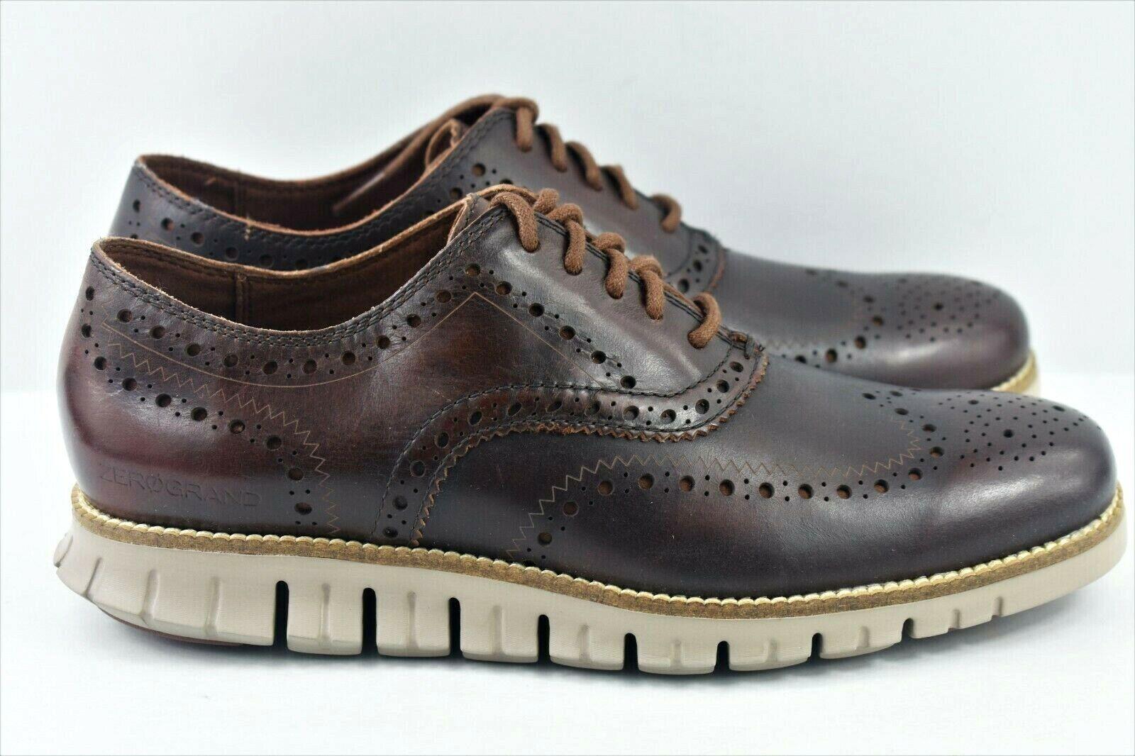 Cole Haan Zerogrand Bout d'aile pour homme taille 7 Oxford   Chaussures en cuir marron C23304