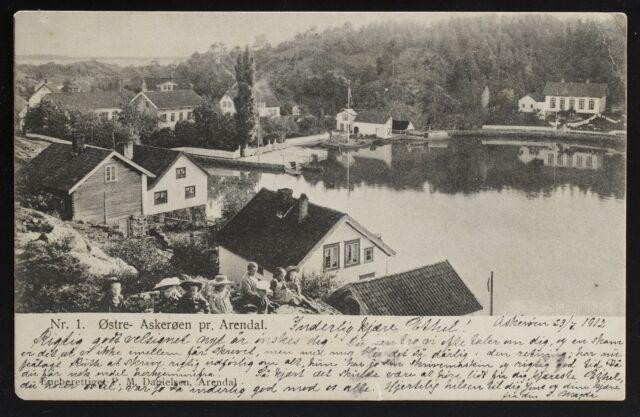 Østre- Askerøen pr Arendal Norge /Norway postcard, message date 1912(not posted)