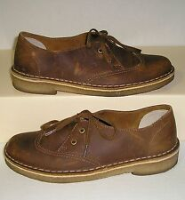 CLARKS ORIGINALS Women's Brown Nubuck Leather Wing Tip Oxfords Shoes Size 6 M
