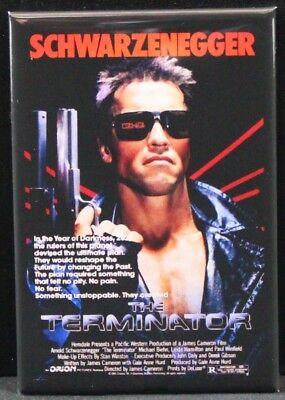 """Schwarzenegger Locker Magnet Terminator 2 Movie Poster 2/"""" X 3/"""" Fridge"""