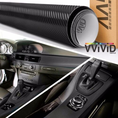 XPO Dry Black Carbon 5/' x 50/' VVivid Vinyl Car Wrap StickerDecal Film Sheet Roll