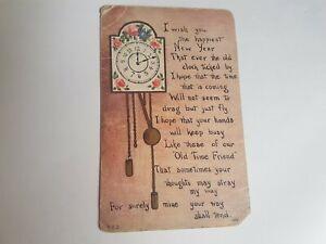 Greeting-Postcard-Vintage-New-Years-Clock