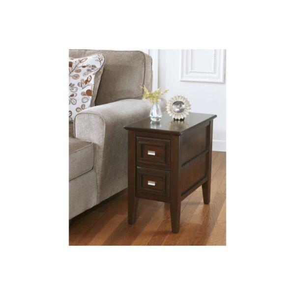 Ashley Furniture Signature Design Larimer Chair Side End Table, Dark Brown
