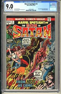 Marvel Spotlight #12  CGC 9.0 OWW VF/NM  Marvel Comics 1973  Origin Son of Satan