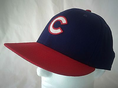 Chicago Cubs Baseball Hat Blue Red Cap Fitted New Era 7 1/2 Authentic Collection