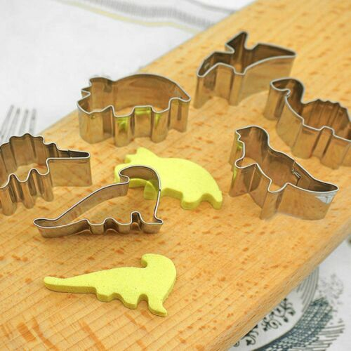 6Pcs Dinosaur Shape Cookie Cutters Tool Cookie Mold Baking Tool For Biscuit Cake