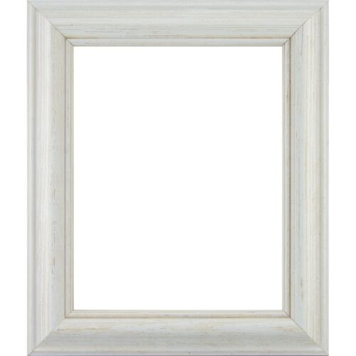 """1.75/"""" Weathered White Pine Wood Picture Frame Shell American Classic"""