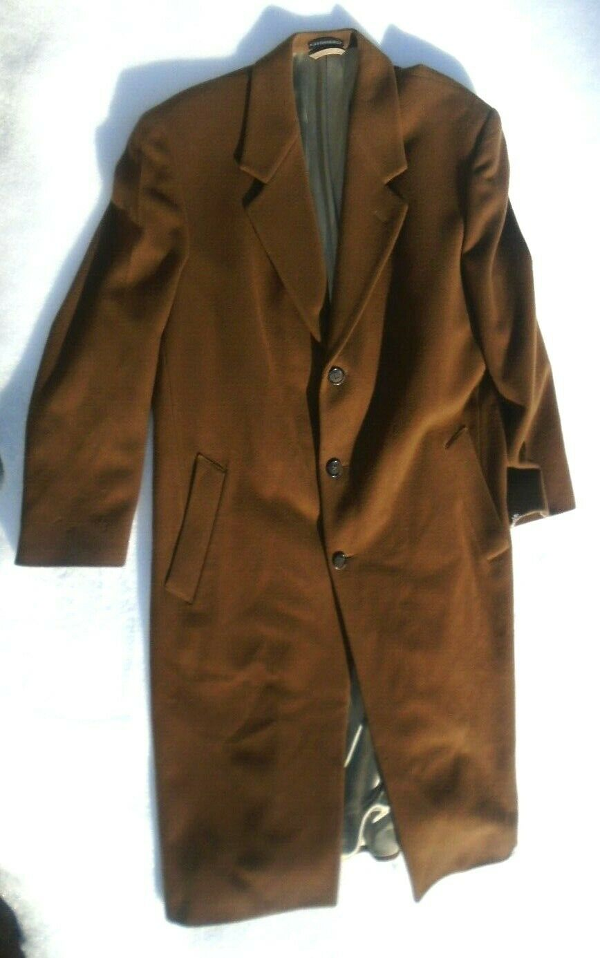Men's London Fog dark brown lambswool dress coat size 42R