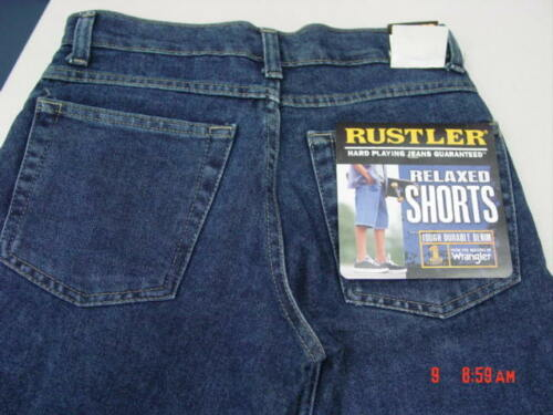 NWT Boys Blue Jean Shorts Rustler Relaxed Fit Nice NEW Midshade