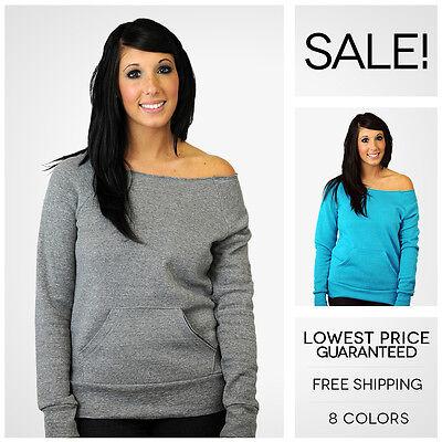 Alternative Apparel Maniac Off Shoulder Sweatshirt Fleece Ebay's LOWEST PRICE!!!