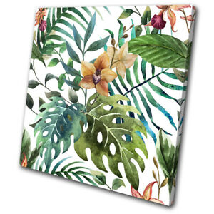Botanical Monstera Tropical Leaf Floral Single Canvas Wall Art Picture Print Ebay Monstera leaf is one of my latest watercolour paintings from my 'tropical leaf watercolour collection'. ebay