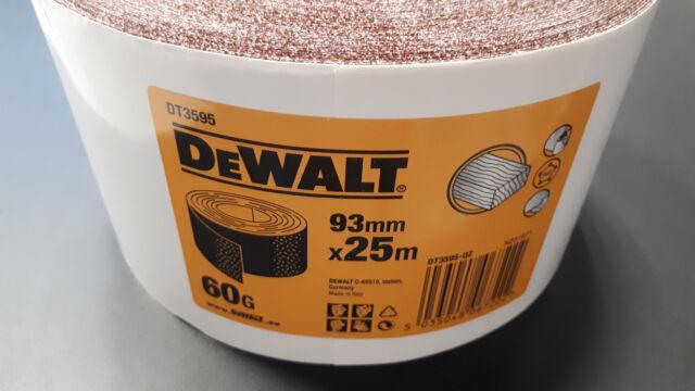 10 Rollen DeWalt Schleifpapier K60 93mm x 25 m DT3595-QZ
