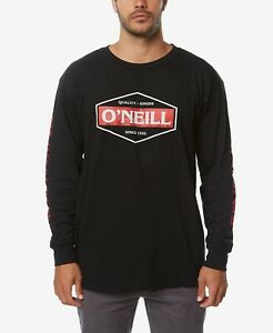 78ef6a0bcaa98 Details about  75 O NEILL Men BLACK RED CREW NECK LONG SLEEVE GRAPHIC TEE  LOGO T-SHIRT SIZE XL