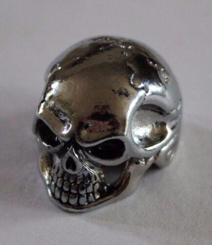 Potiknopf Knopf Skull II Totenkopf Q-parts  Metall Hammeroptik nur noch in gold