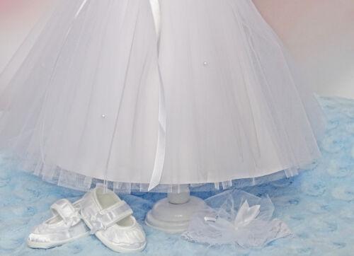 Bolero ♥ Luis♥ Taufkleid Stirnband  Babykleid Tüll 62,68,74,80,86,92,98