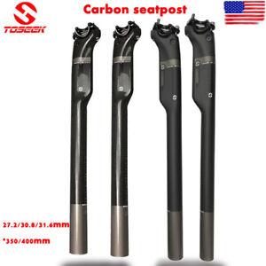 TOSEEK 27.2//30.8//31.6mm 3K Carbon Seatpost Mtb Bike Seat Post Tube Road Bicycle