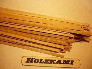 50 Stück 800mm x 6mm x 0.6mm  L//B//H  Neu Holzleisten  Mahagoni